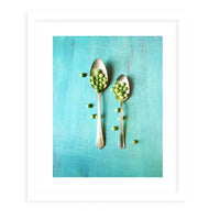 PEASPOON Framed Print With Mat By Olivia St.Claire