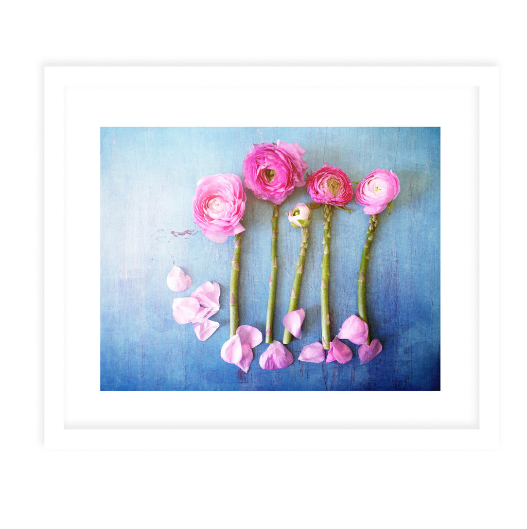 FLORAL ASPARAGUS Framed Print With Mat By Olivia St.Claire