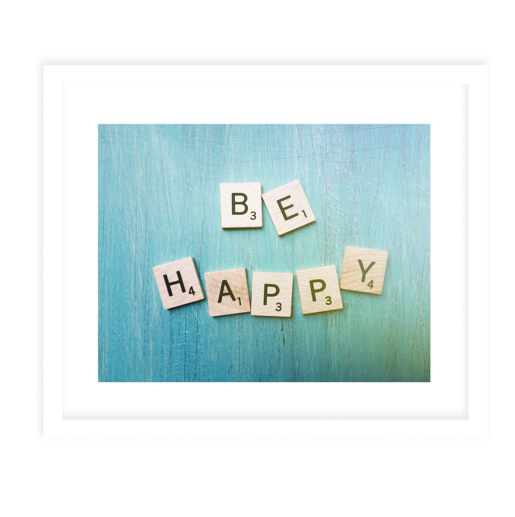 BE HAPPY Framed Print With Mat By Olivia St.Claire