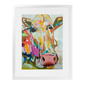 LOOSE MILK Framed Giclee Print With Mat By Susan Skelley