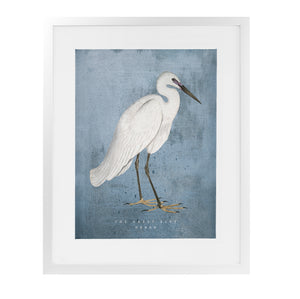 THE GREAT BLUE HERON Framed Giclee Print With Mat By Terri Ellis
