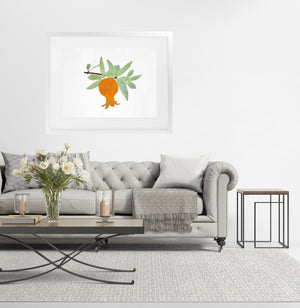 GREEN LEAVES Framed Giclee Print With Mat By Terri Ellis