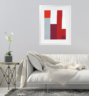 ANGENAULT ABSTRACTION Framed Giclee Print With Mat By Villa Capri