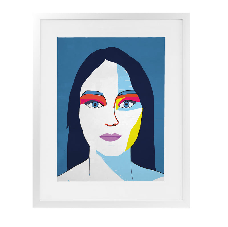 HELEN LESS Framed Giclee Print With Mat By Villa Capri
