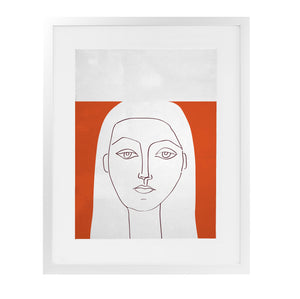 ANGENAULT RED HELEN Framed Giclee Print With Mat By Villa Capri