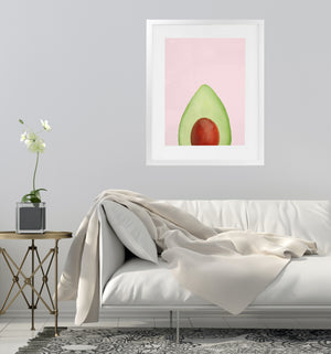 AVOCADO TOP Framed Giclee Print With Mat By Vivid Atelier