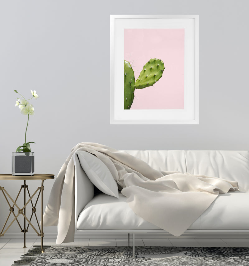 SOUTHWEST CACTUS CLOSEUP Framed Giclee Print With Mat By Vivid Atelier