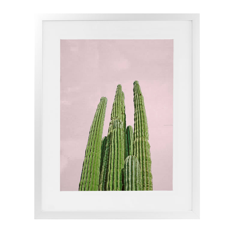 CACTUS LONG Framed Giclee Print With Mat By Vivid Atelier