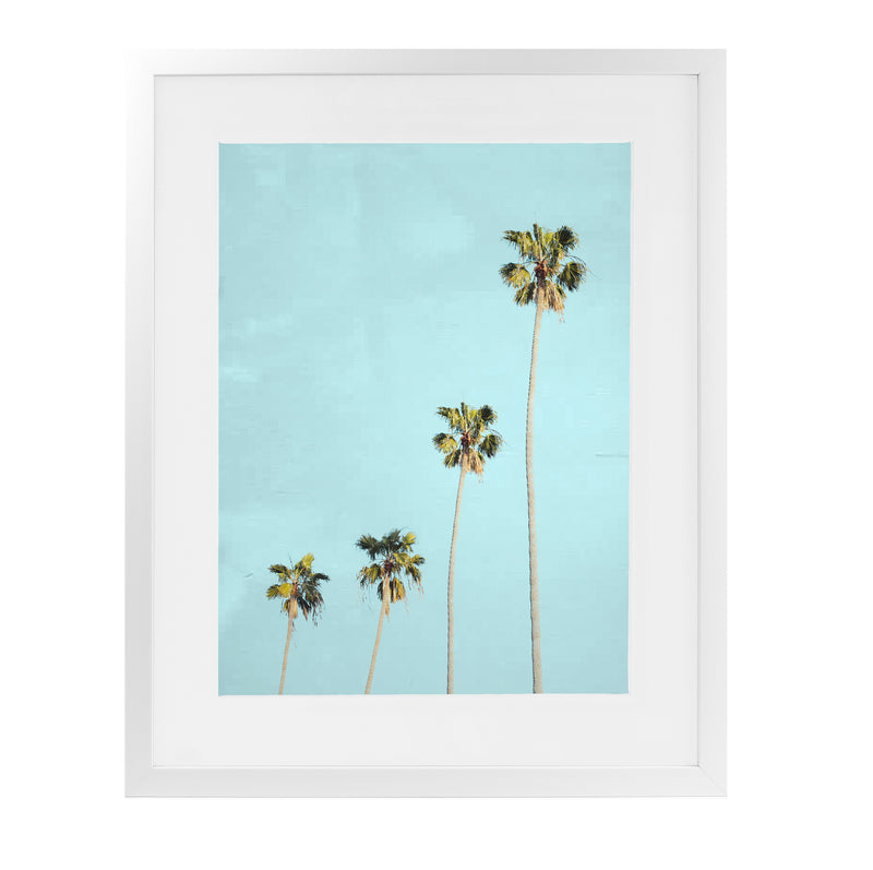 FOUR PALMS Framed Giclee Print With Mat By Vivid Atelier