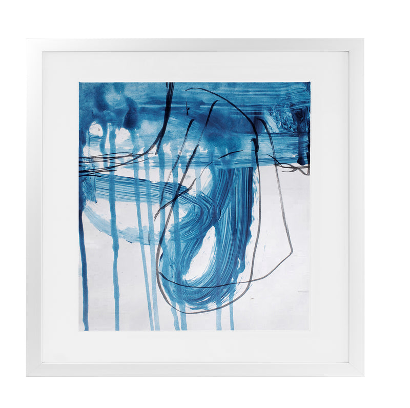 BLUE ABSTRACT SET FIVE Framed Giclee Print With Mat By Jolina Anthony