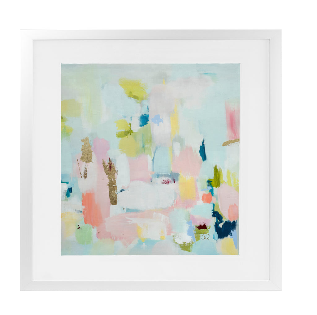 WHIRLWIND ROMANCE Framed Giclee Print With Mat By Susan Skelley