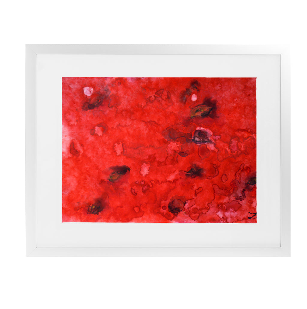 WATERMELON Framed Giclee Print With Mat By Zaira Dzhaubaeva