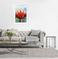 TULIP Framed Giclee Print With Mat By Zaira Dzhaubaeva