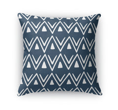 ETCHED ZIG ZAG NAVY Accent Pillow By Becky Bailey