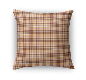 FALL NEUTRAL MENS PLAID  Accent Pillow By Northern Whimsy
