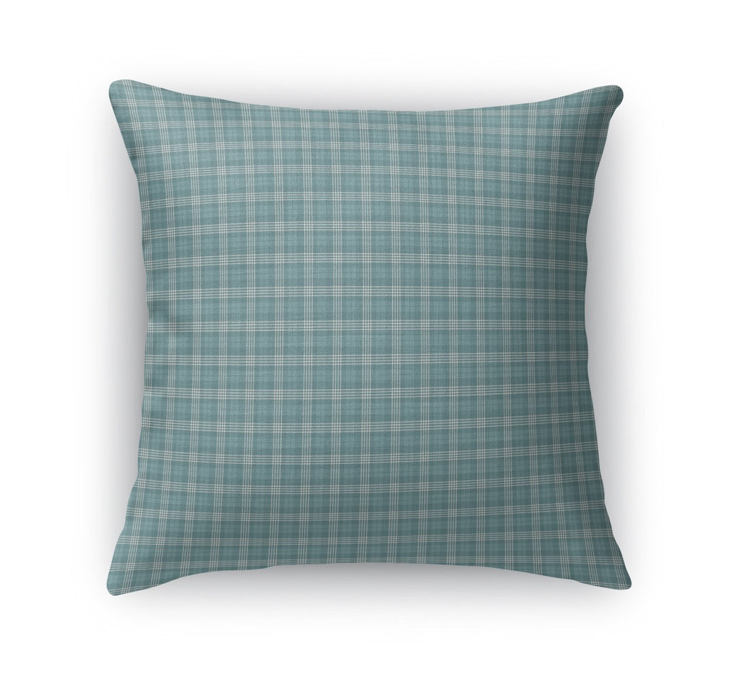 FISHING PLAID Accent Pillow By Northern Whimsy