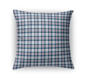 PATRIOTIC PLAID  Accent Pillow By Northern Whimsy