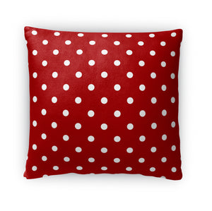 POLKA DOTS RED Accent Pillow By Terri Ellis