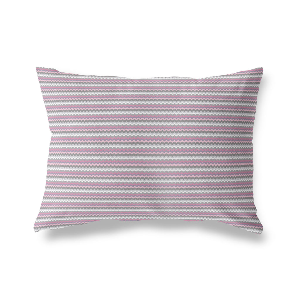 WAVY CHEVRON Lumbar Pillow By Anne Cote