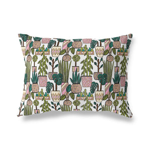 SEVENTIES PLANT PATTERN Lumbar Pillow By Michelle Parascandolo