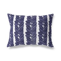 HAZELWOOD NAVY Lumbar Pillow By Michelle Parascandolo