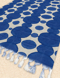 AQUARELLE BUBBLE Beach Blanket with Tassels By Nancy Green