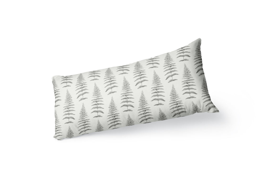 FERN LEAF GREY Body Pillow By Becky Bailey