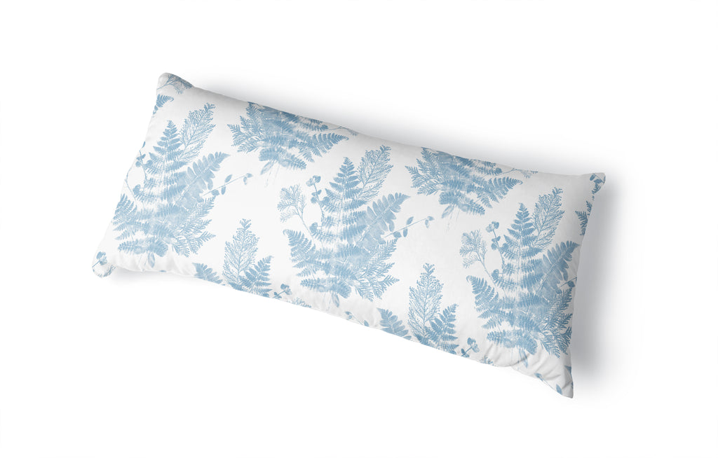 FOREST FLOOR LIGHT BLUE Body Pillow By Becky Bailey