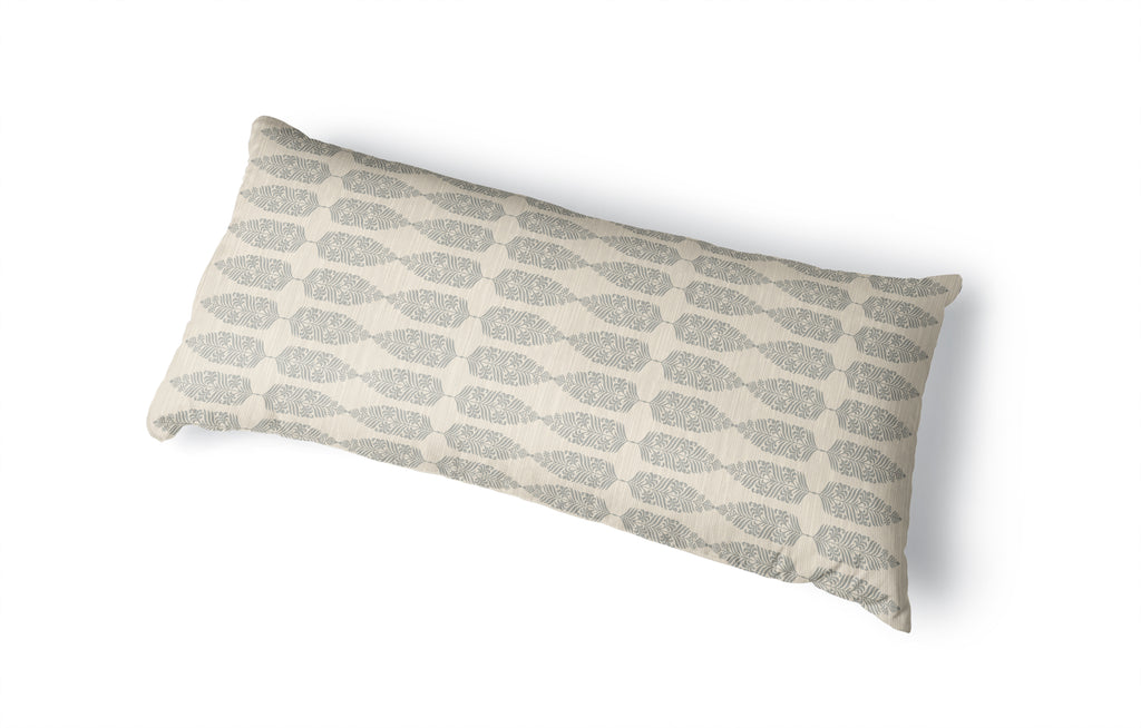 FEATHER BEIGE Body Pillow By Kavka Designs