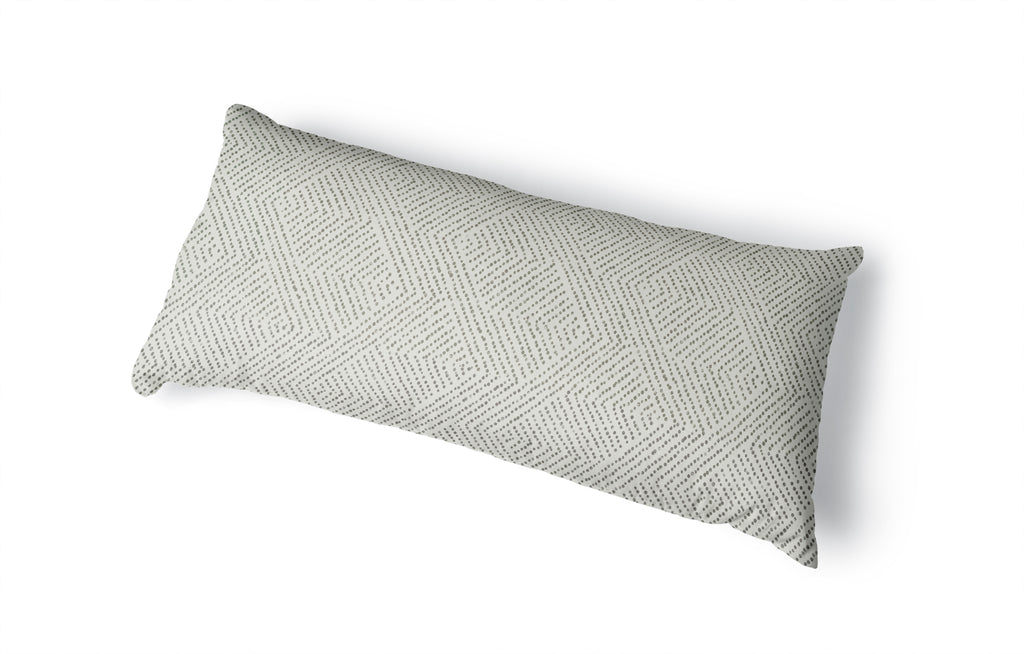 CHEVRON DOT IVORY Body Pillow By Kavka Designs