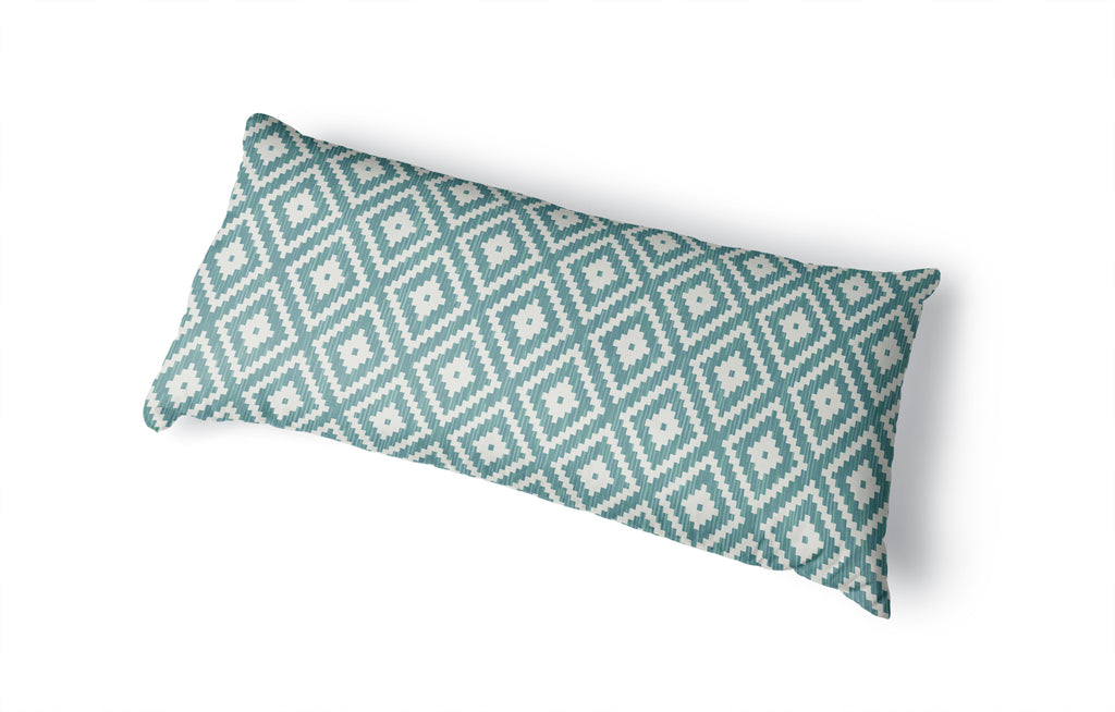 DIAMOND TEAL Body Pillow By Kavka Designs