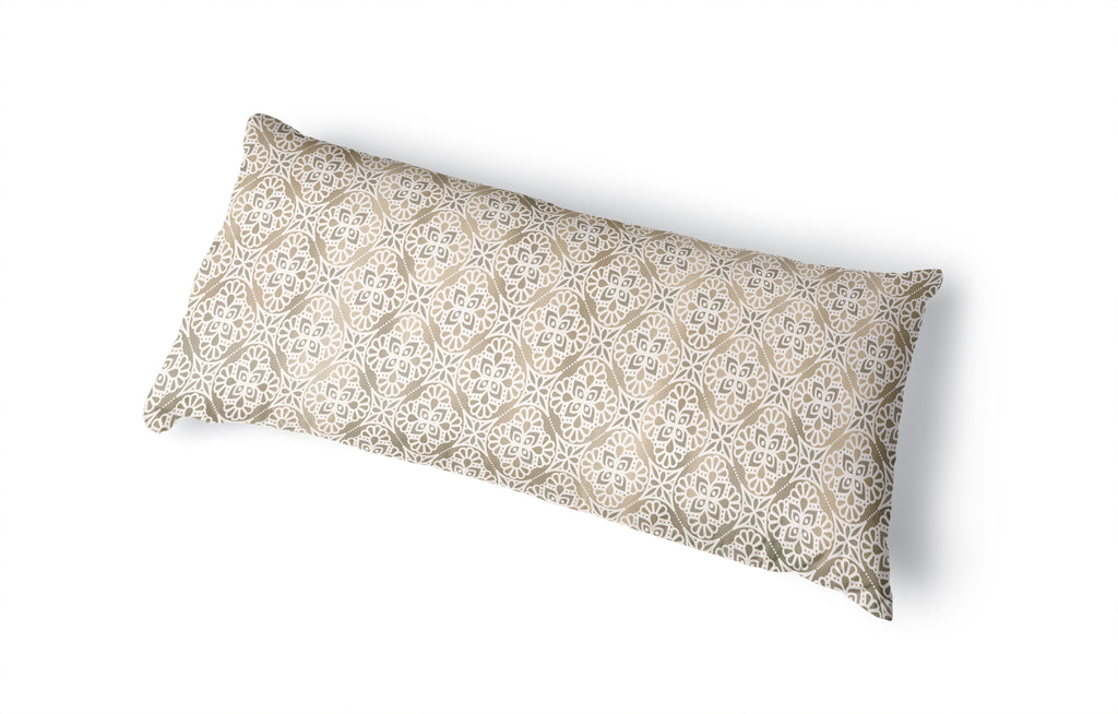 AMY NEUTRAL Body Pillow By Kavka Designs