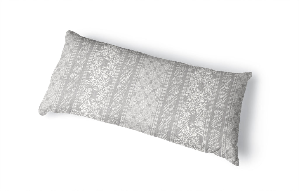 DAWSON LIGHT GREY Body Pillow By Kavka Designs