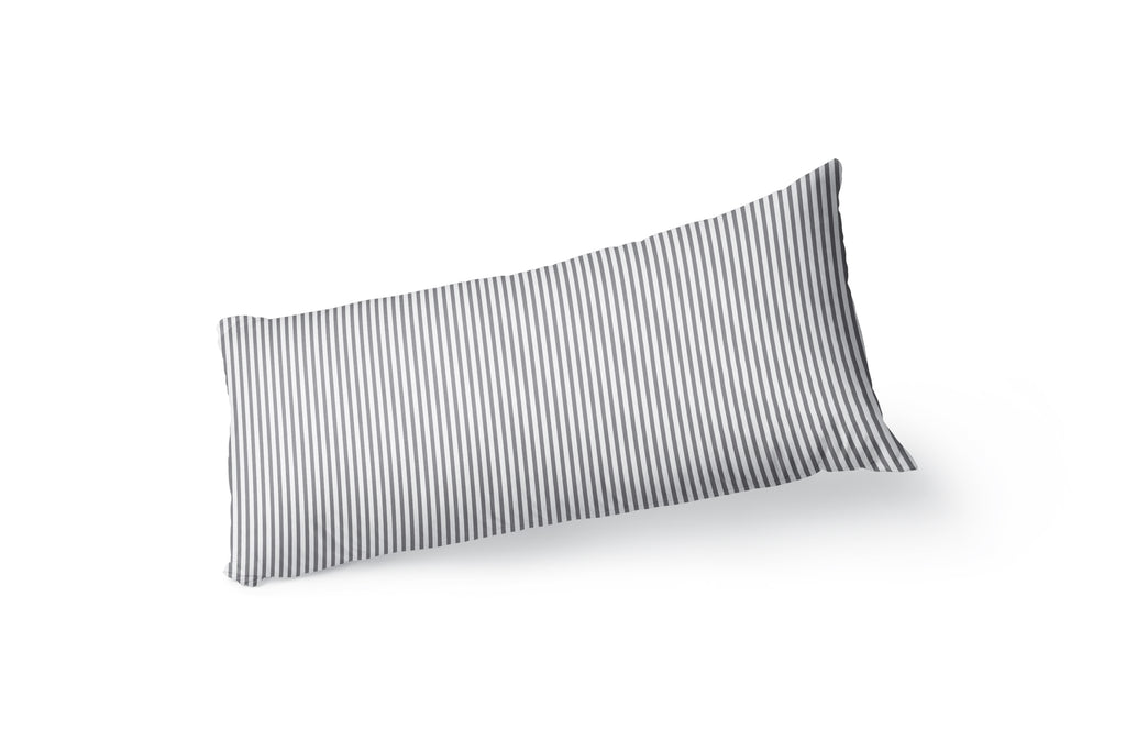BELMONT STRIPE GREY Body Pillow By Kavka Designs