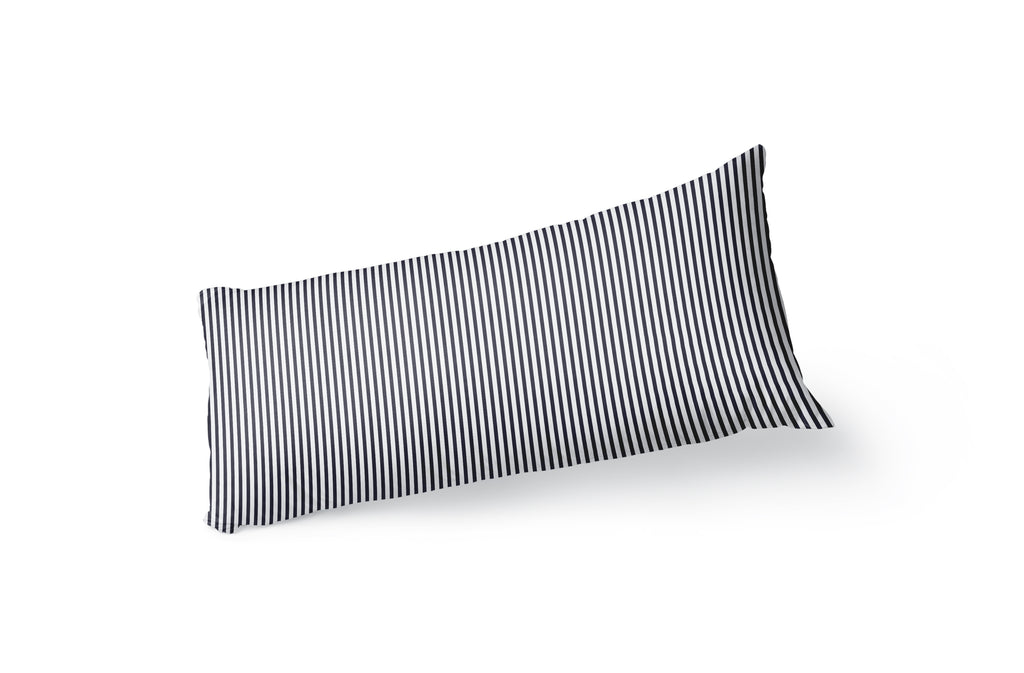 BELMONT STRIPE NAVY Body Pillow By Kavka Designs