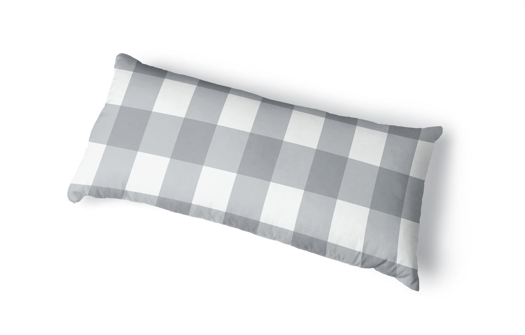 BONNIE GREY BUFFALO CHECK GREY Body Pillow By Terri Ellis