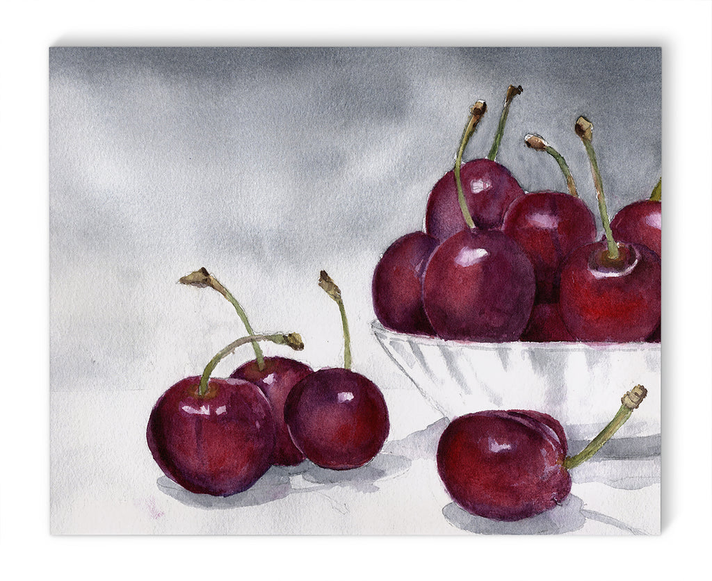 BOWL OF CHERRIES Canvas Art By Jayne Conte