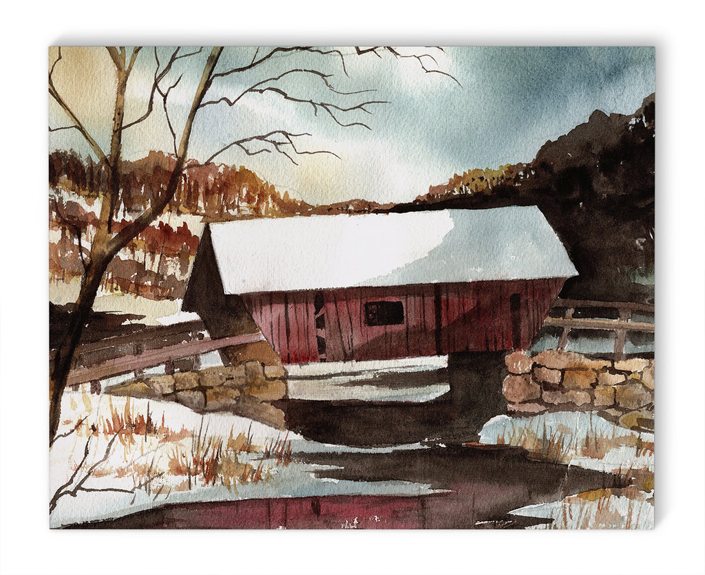 COVERED BRIDGE Canvas Art By Jayne Conte