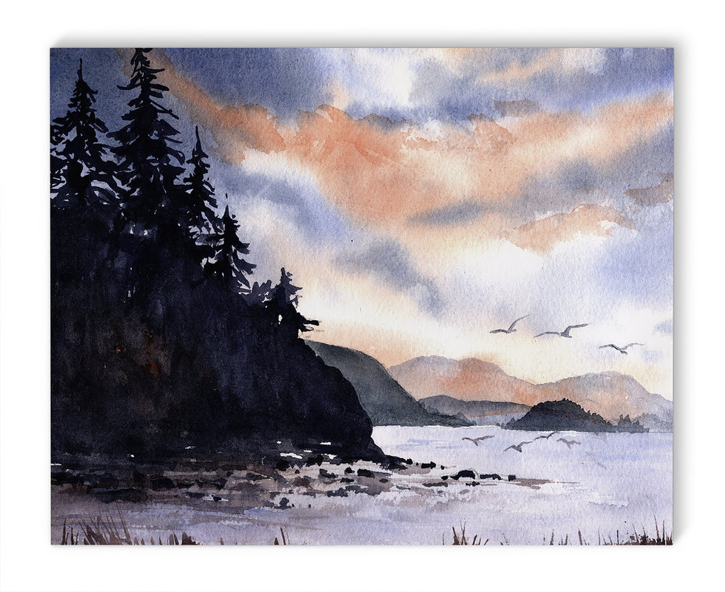STROMY LAKE Canvas Art By Jayne Conte