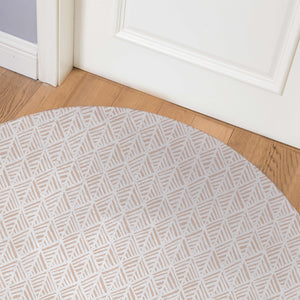 ABSTRACT LEAF Indoor Floor Mat By Becky Bailey