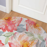 FLORAL LOVE BLUSH Indoor Floor Mat By Jackii Greener