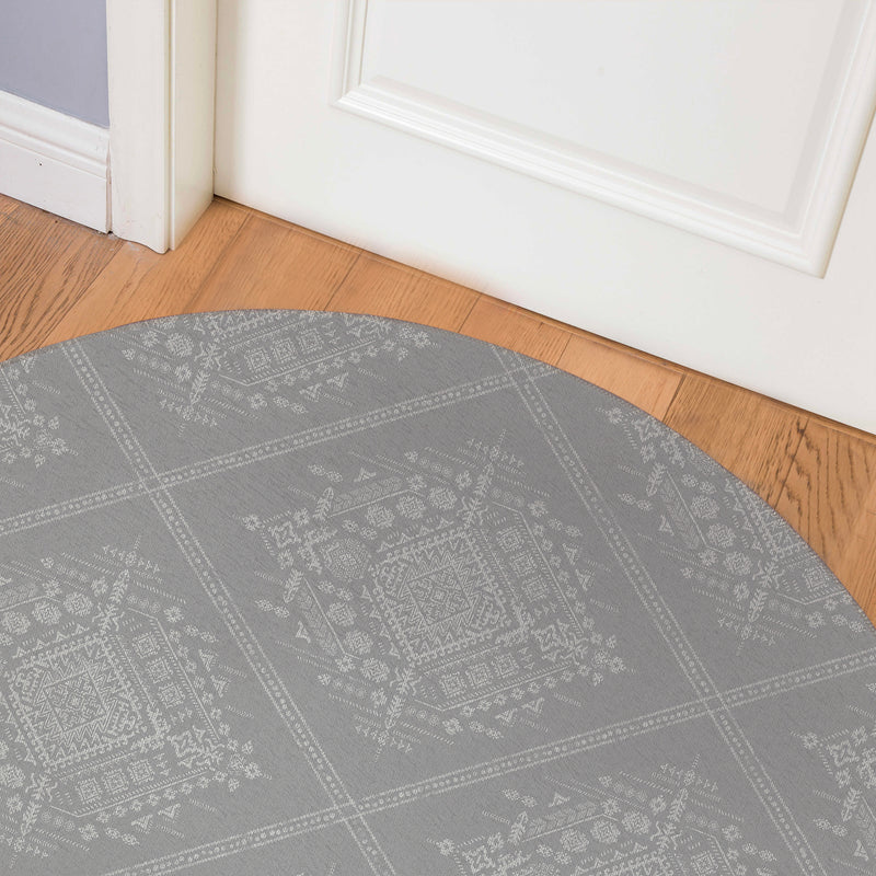 ZARA GREY Indoor Floor Mat By Kavka Designs