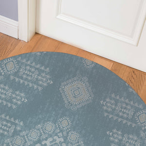 ZEN BLUE Indoor Floor Mat By Kavka Designs