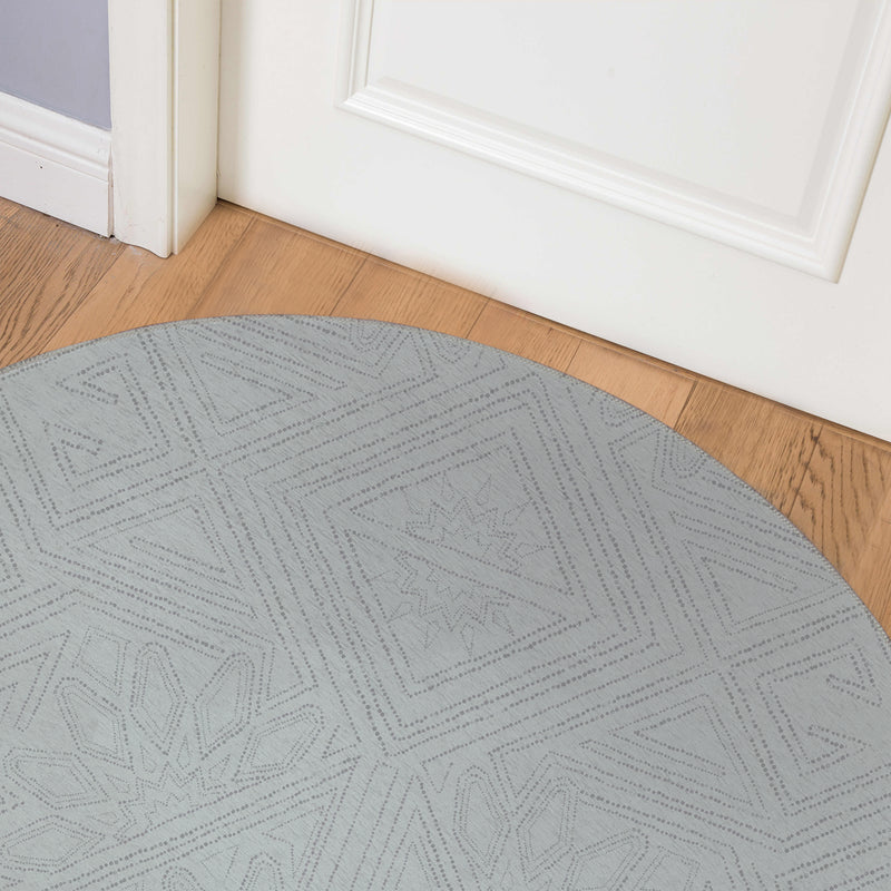 GRETA BLUE Indoor Floor Mat By Kavka Designs