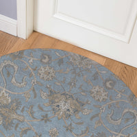 OUSHAK LIGHT BLUE Indoor Floor Mat By Kavka Designs