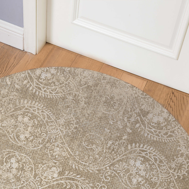 CLEO NATURAL Indoor Floor Mat By Terri Ellis
