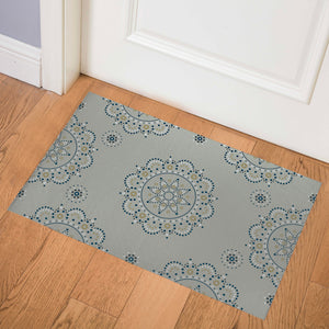 MANDEL GREY Indoor Floor Mat By Kavka Designs