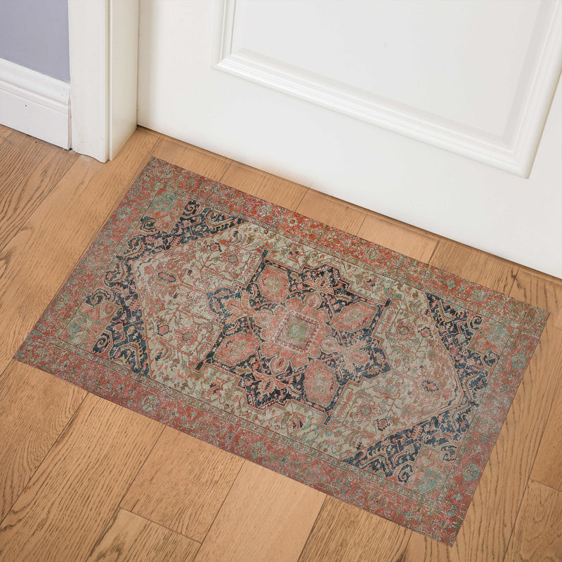 HEREZ RUST Indoor Floor Mat By Kavka Designs
