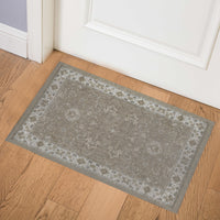 OUSHAK TAUPE Indoor Floor Mat By Kavka Designs