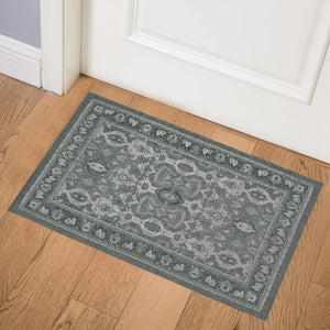 MAHAL GREEN Indoor Floor Mat By Kavka Designs